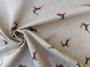 Stoffe Mit Hirschmotiven : deer fabric curtain upholstery cotton material christmas moose elk print textile 55 wide ~ Markanthonyermac.com Haus und Dekorationen