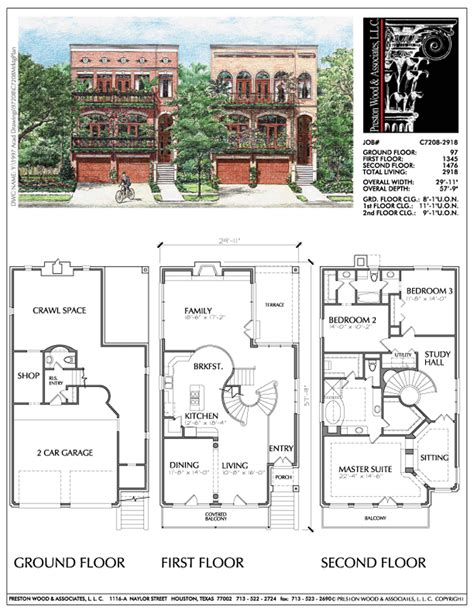 urban home plan  home floorplans pinterest