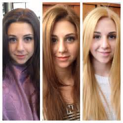 Before After Then Later Brown Caramel Blonde Hair Color