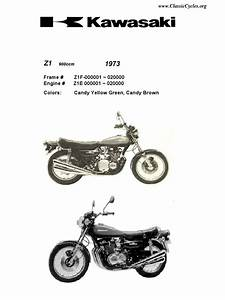Kawasaki Z1 900 Z900 Illustrated Parts List Diagram Manual