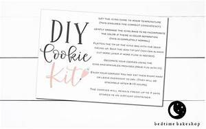 Printable Spring Diy Cookie Kit Instruction Card Peach