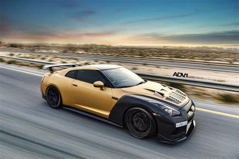 nissan gold nissan tuning stunning adv1 carbon gold nissan gt r
