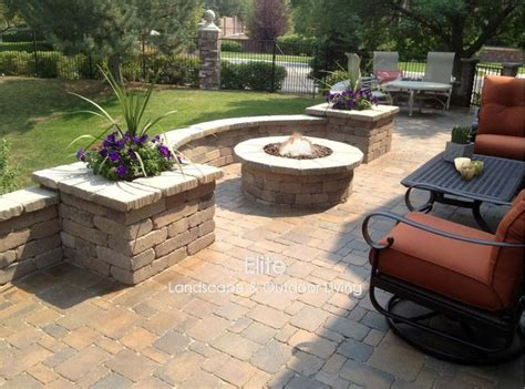 paver patio pit in greenwood co modern