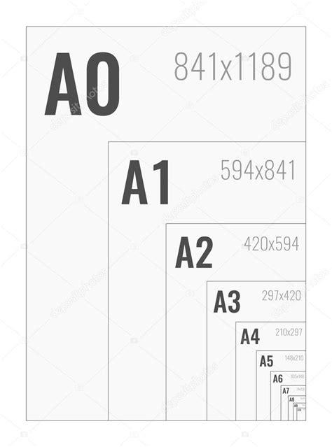 Formati di carta standard una serie da A0 a A10