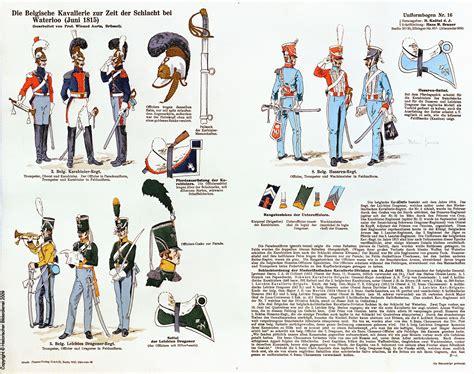 tavole dei colori cavalleria belga tavole napoleoniche dei colori delle