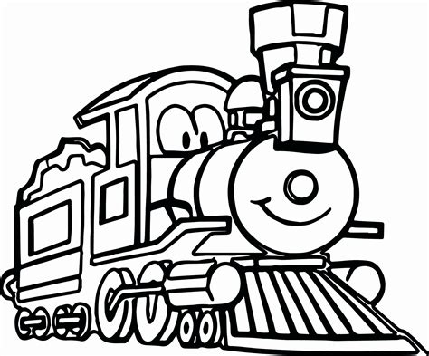 cartoon train coloring pages  getcoloringscom