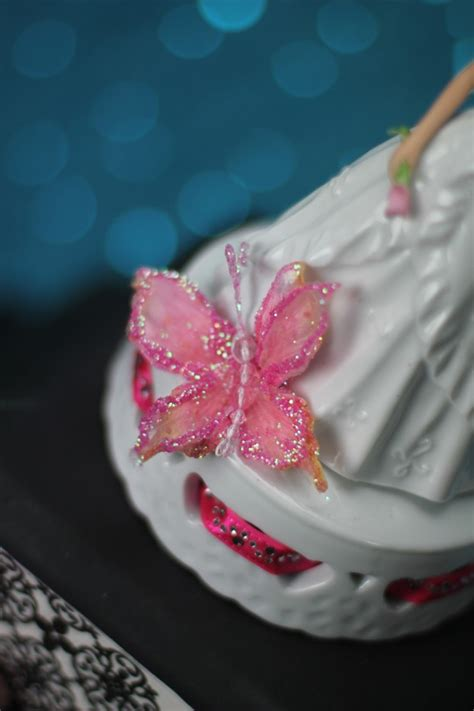 butterfly princess quinceanera  sweet sixteen cake