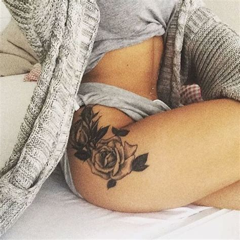 ideas  rose hip tattoos  pinterest rose tattoo thigh thigh tattoo placements