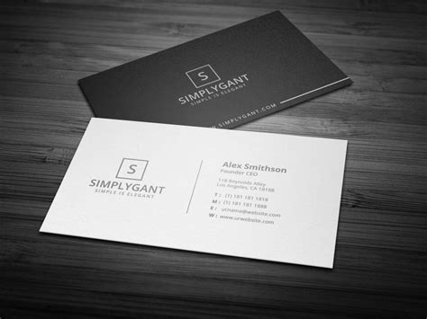 founder ceo business card