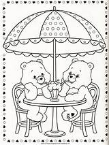 Kleurplaat Beertjes Carinhosos Ursinhos Ausmalen Bisounours Pagine Malbuch Cuore Coloriage Omnilabo Orsetti Wenn Coloringes Bärli Cupcake Carebear Páginas Kinderbilder Realizzato sketch template