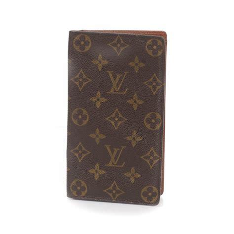 louis vuitton monogram porte chequier cartes credit european checkbook wallet 26660