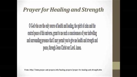 prayer  healing  strength version  youtube