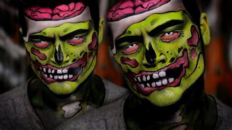 pop art zombie halloween makeup tutorial youtube