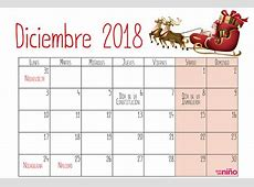 Diciembre Calendario escolar 20182019 para imprimir