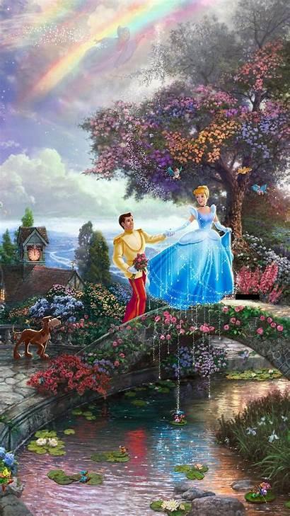 Kinkade Disney Thomas Computer Cinderella Painting Paintings