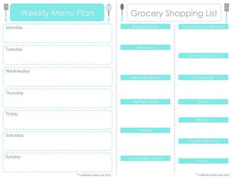 Menu Planner Template by 20 Free Menu Planner Printables Fab N Free