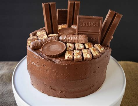 candy bar stash chocolate cake modern honey