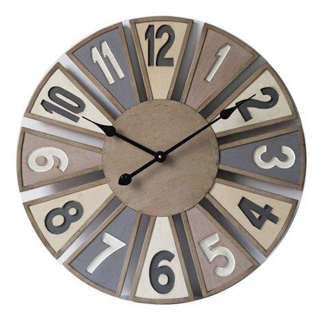 horloge murale en bois diam 232 tre 60 cm dya shopping fr