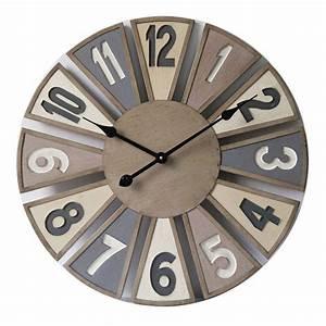 Horloge Murale Bois : horloge murale en bois diam tre 60 cm dya ~ Teatrodelosmanantiales.com Idées de Décoration