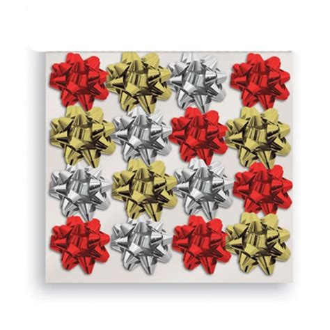 Assorted Mini Glitter Christmas Gift Bows - Pack of 16 ...