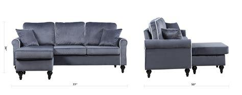 gray velvet sectional sofa traditional small space grey velvet sectional sofa with