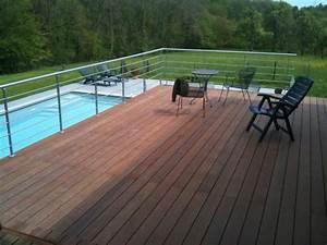 Terrasse Metallique Suspendue : terrasse sur pilotis esneux structure bois et m tal ~ Dallasstarsshop.com Idées de Décoration