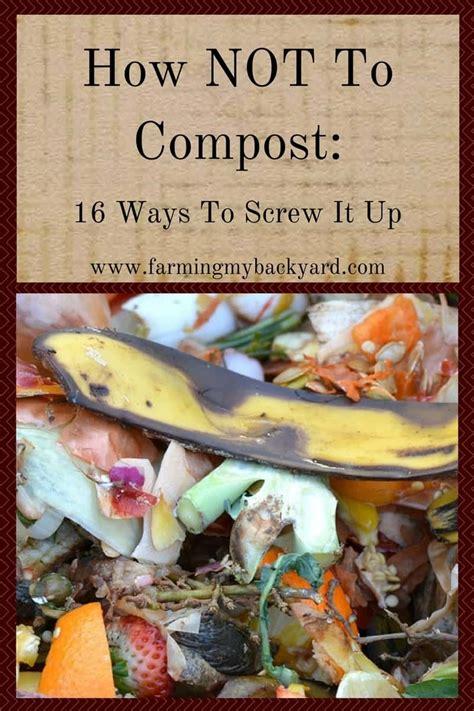 compost  ways  screw   farming