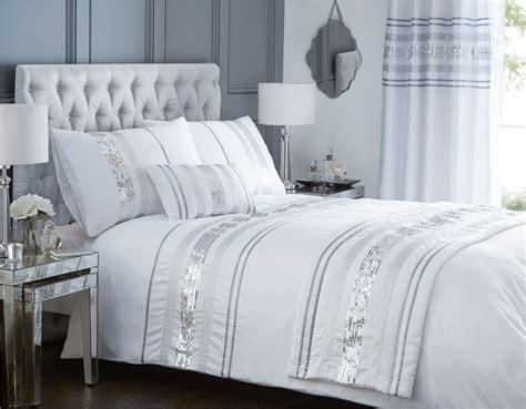 Modern Sequin Quilt Duvet Cover & 2 Pillowcase Bedding Bed Set Black White New   eBay