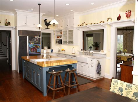 Butcher Block Kitchen Island Kitchen Traditional With