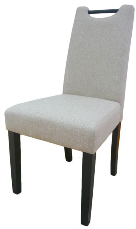 china handle linen fabric rubber wood dining room chair