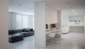 A, Super, Minimalist, Modern, Apartment, In, White
