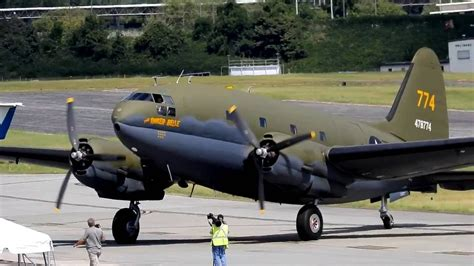 """Curtiss -wright C-46 commando """" the tinker bell """" - YouTube"""