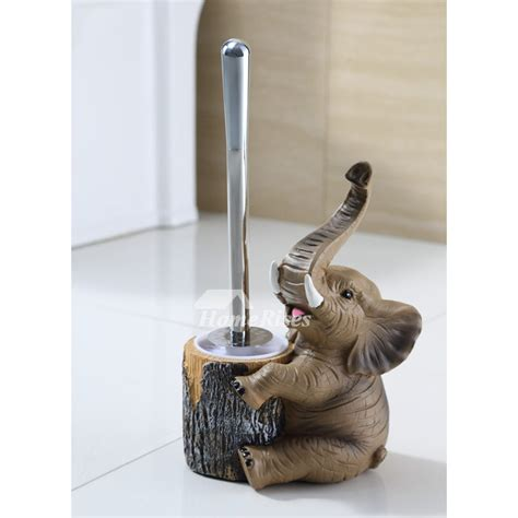 dog toilet brush holder  standing resin bathroom