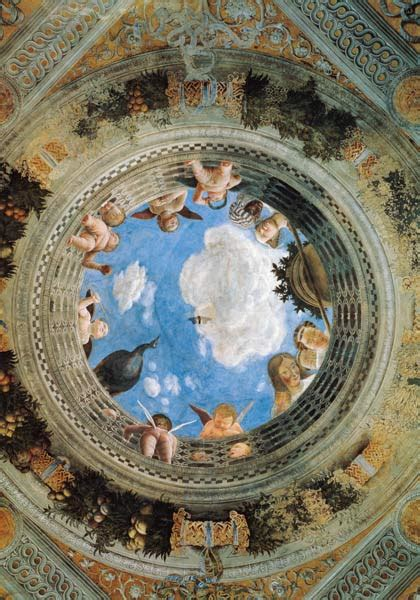 mantegna degli sposi degli sposi ceiling fresko pal andrea mantegna