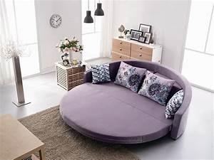 rond confortable canape lit avec coussin colore couleur With canapé lit rond