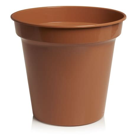 wilko plastic plant pot terracotta 32cm at wilko