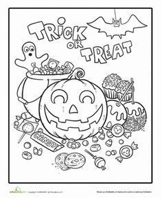 halloween candy coloring page  images halloween