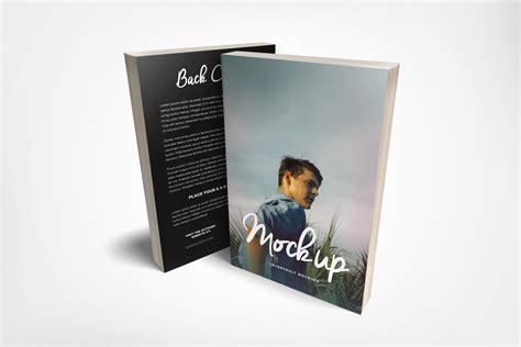 front  paperback book mockup freebies fribly