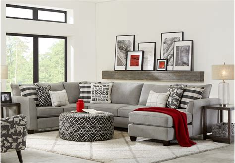 barkley heights gray  pc sectional sectional living