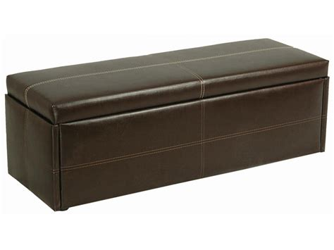 Red/black/brown Faux Leather Ottoman Storage Stool/blanket