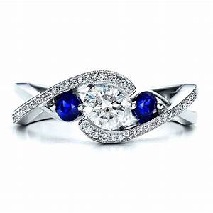 awful of diamond ring with blue stone With wedding rings with blue stones