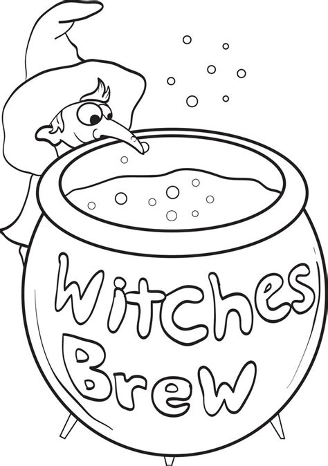 printable witch coloring page  kids  supplyme
