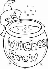 Coloring Pages Witch Witches Printable Brew Halloween Colouring Sheets Mpmschoolsupplies Easter Egg sketch template