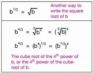 Rational/negative exponents
