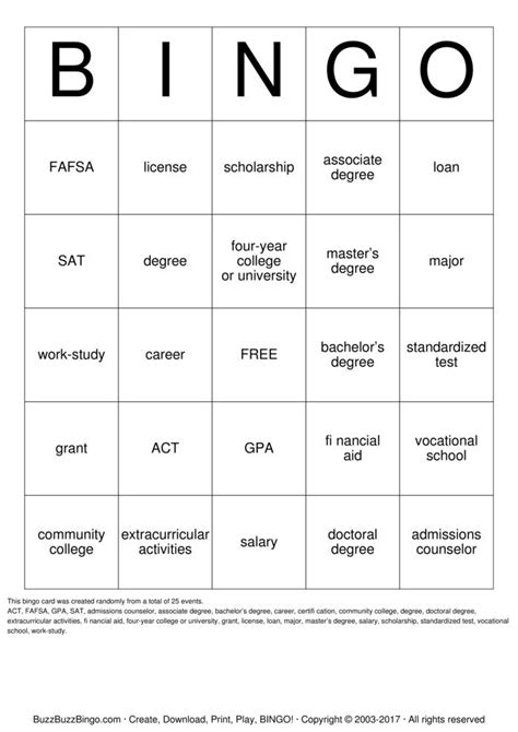 EPHS COLLEGE Ready Bingo Cards to Download, Print and