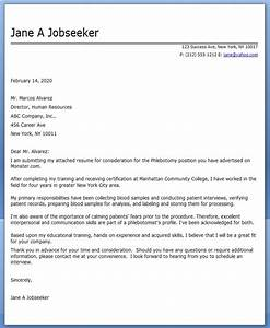 cover letter phlebotomy resume downloads With entry level phlebotomy cover letter sample