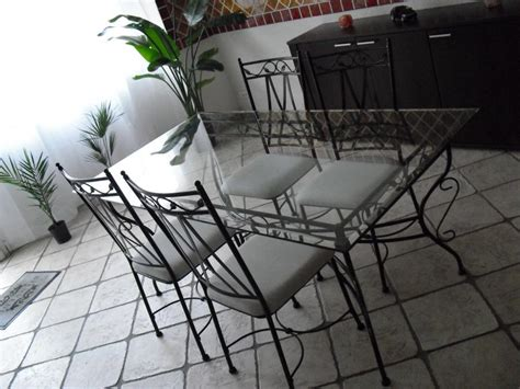 chaises fer forgé conforama table verre fer forge conforama