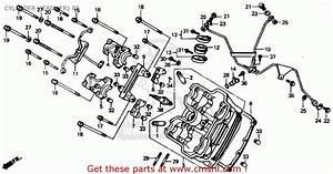 Honda Vtr250 Interceptor Vtr 1988 Usa Cylinder Head  Fr