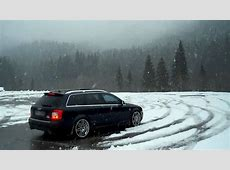 Low Rider Audi S4 42 V8 snow donut YouTube