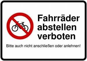 Warnschilder Selbst Gestalten : schild selbst drucken fahrrad abstellen verboten ~ Orissabook.com Haus und Dekorationen